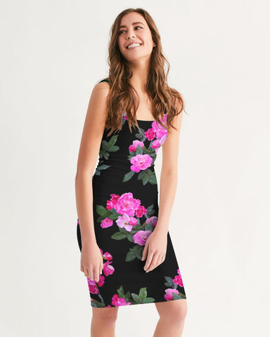 Roses for Days Women's Midi Bodycon Dress