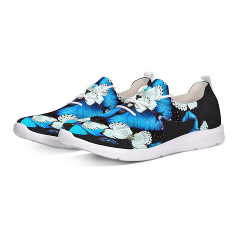Iron Butterfly Print Lace Up Flyknit Shoe