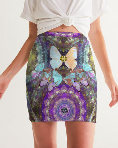 Big Blingy Starry Night Women's Mini Skirt