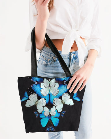 Iron Butterfly Print Canvas Zip Tote