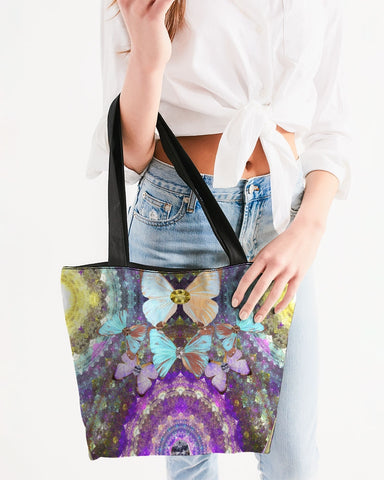 Big Blingy Starry Night Canvas Zip Tote