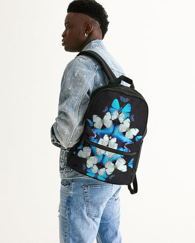 Iron Butterfly Print Small Canvas Backpack