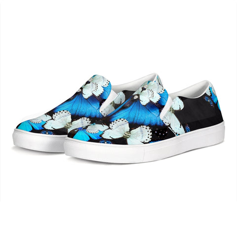 Iron Butterfly Print Slip-On Canvas Shoe
