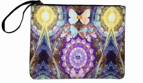Big Blingy Starry Night - Canvas Wristlet