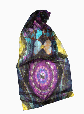 Big Blingy Starry Night-Silk Chiffon Scarf