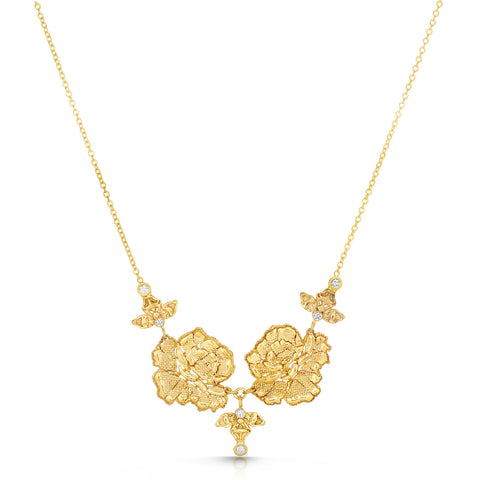 Blooming Lace Gold Floral Necklace