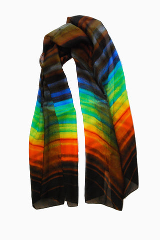 Canyon Walls-Silk Chiffon Scarf