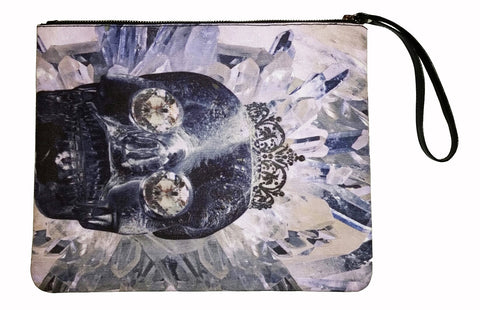 Crystal Skull - Canvas Wristlet