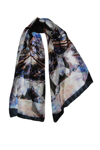 Diamonds are More Than My Best Friends-Silk Chiffon Scarf