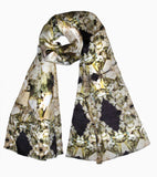 Fool's Gold-Silk Charmeuse Scarf