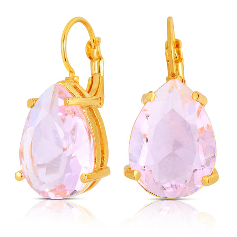 Rose Quartz Single Stone Earrings