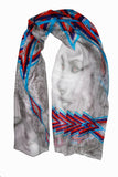 Queen of the Aztec Desert-Silk Chiffon Scarf