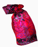 Rock Royalty Wrap (Hot as Hell Pink)- Silk Chiffon Scarf