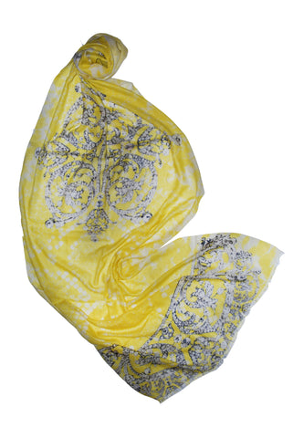 Crowned Royal (Banana Python)-Silk Charmeuse or Silk Cashmere Scarf