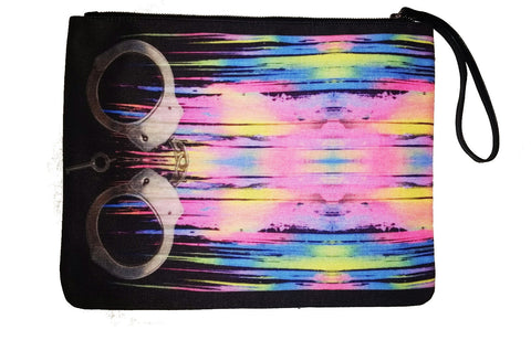Handcuffed & Painted On - Canvas Wristlet