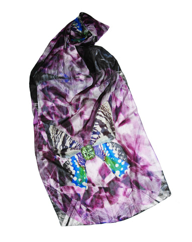 Tourmaline Mornings-Silk Chiffon Scarf