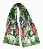 Tourmaline Nights-Silk Charmeuse or Silk Cashmere Scarf