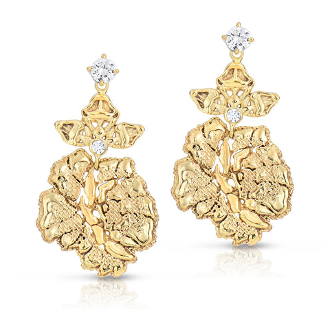 Gold Blooming Lace Earrings