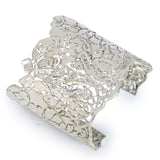 Silver Lace Filigree Cuff