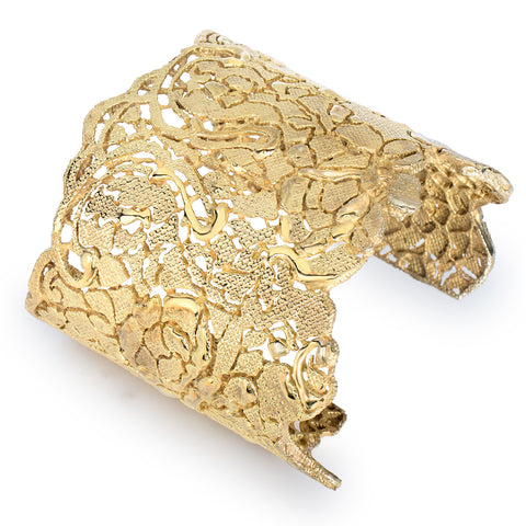 Gold Lace Filigree Cuff