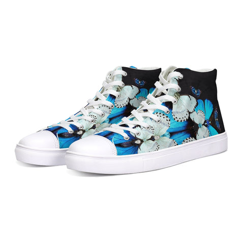 Iron Butterfly Print Hightop Canvas Shoe