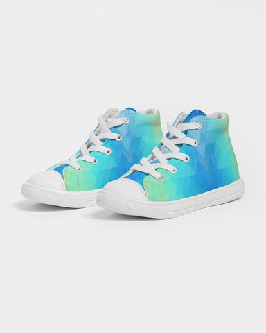 Aztec River Rising Kids Hightop Canvas Shoe
