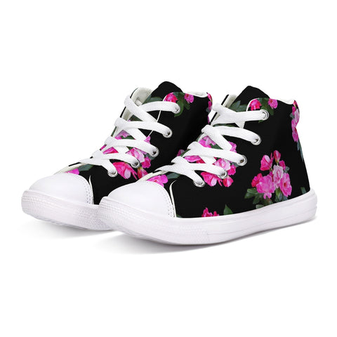 Roses for Days Kids Hightop Canvas Shoe