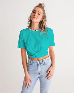 Reconstruction of Change Women's Twist-Front Cropped Tee