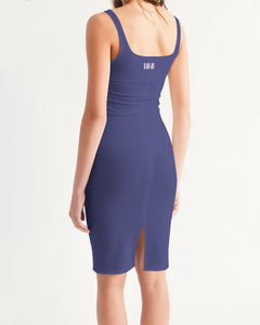 CLV = 155 Jacksons Purple Women's Midi Bodycon Dress