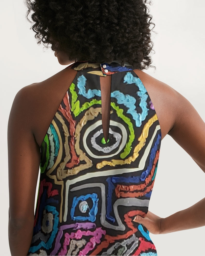 Energy Series - Untitled 1 Women's Halter Dress