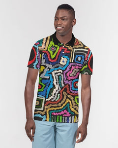 Energy Series - Untitled 1 Men's Slim Fit Short Sleeve Polo