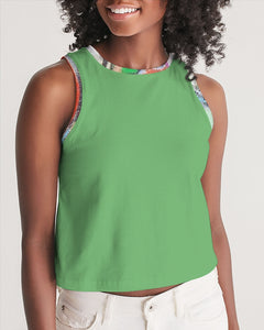 The Reconstruction of Change - Fern Women's Cropped Tank