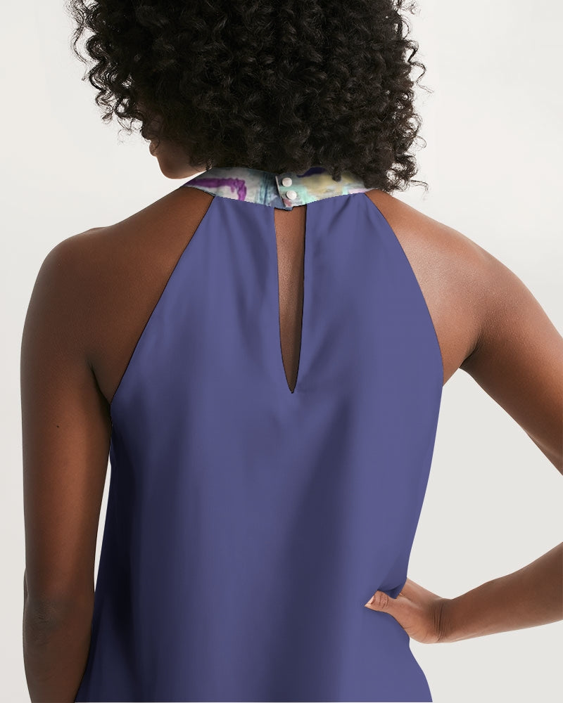 Untitled Series - Remembering Spring - Jacksons Purple Women's Halter Dress