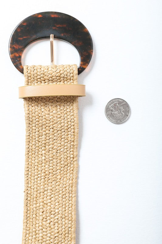 Beige Basketweave Belt