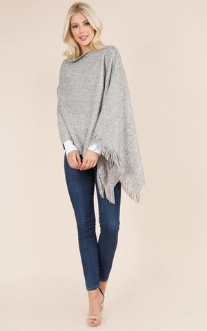 Super Soft Fringed Poncho