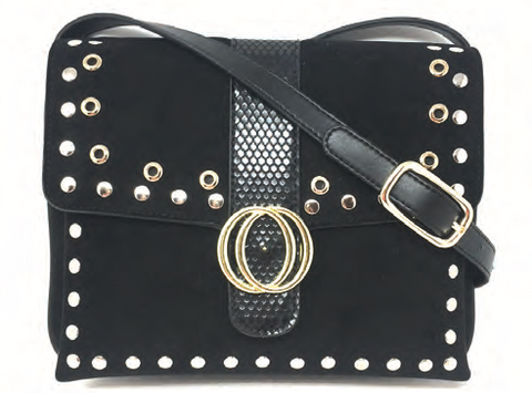 Black Studded Cross Body