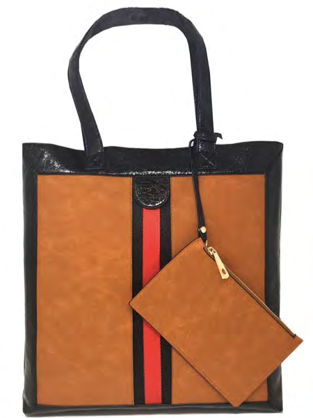 Shopper Bag with Stripe