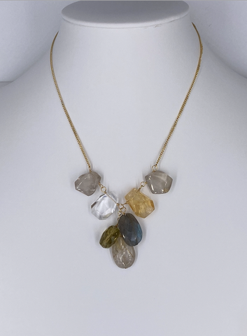 Multi Semi Precious Stone Necklace