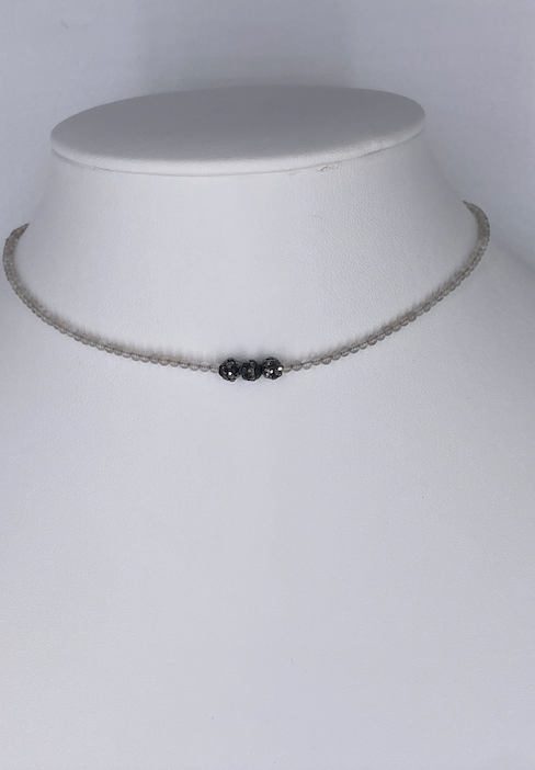 Triple Ball Beaded Choker