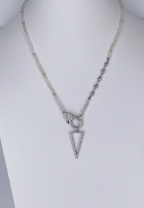 Triangle cz pendant necklace