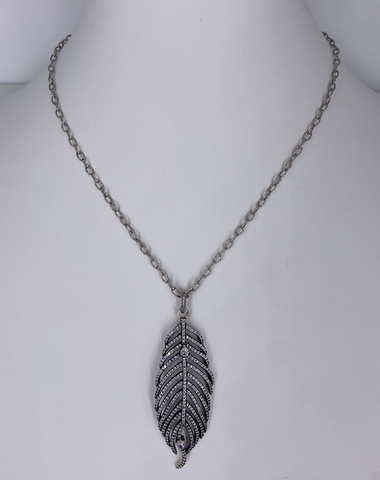 Silver Leaf Necklace