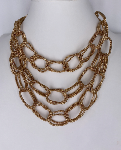 Triple Link Statement Necklace