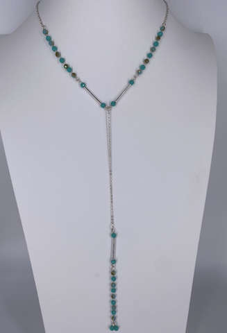 Beaded Y Necklace