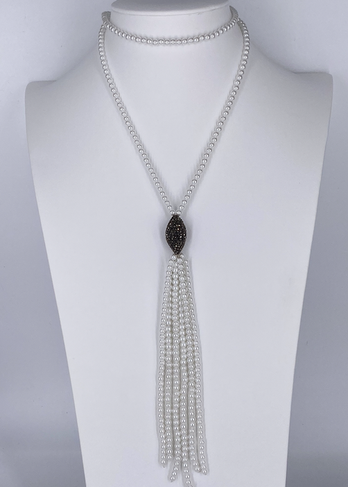 Pearl & Crystal Necklace