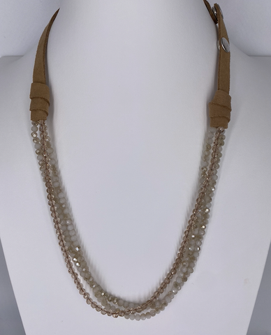 Multi Strand Crystal Beaded Necklace