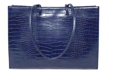 Navy Croc Shopper