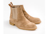 Beau Coops SPENCE beige suede chelsea boot, Made in Italy