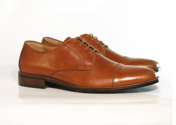 Gingers for Gentlemen CANNE Tan leather derby.