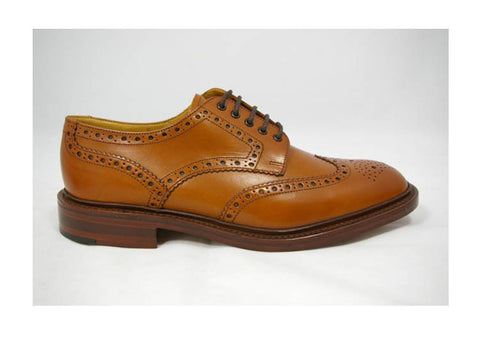 LOAKE Chester Tan Leather Brogue