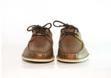 Gingers for Gentlemen CLOVELLY Brown leather deck shoe, made in Portugal.